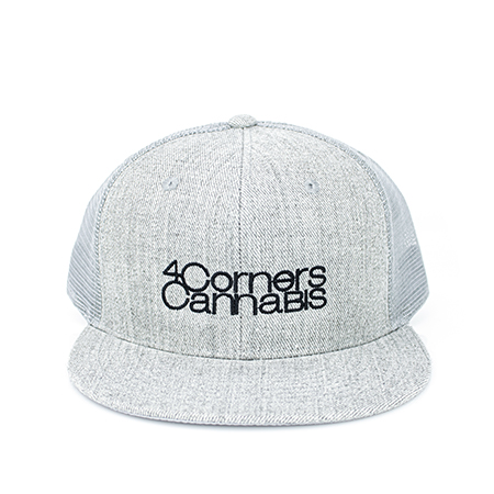 4 Corners Cannabis Merchandise Grey Flat Bill Hat