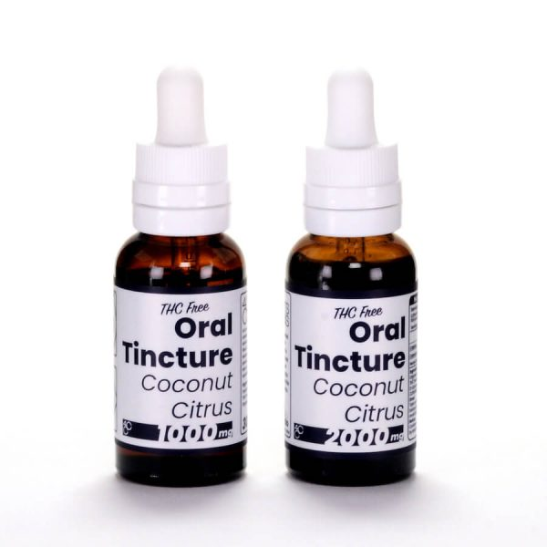 thc free coconut citrus tincture